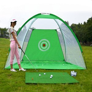 Indoor And Outdoor Folding Golf Cage Training Aids Sports Swing Trainer Practice Net