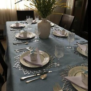 Table Runner 10 Pack Pressed Metallic Placemats Charger Wedding Accent Centerpiece --Flower