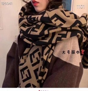 Korean f-letter imitation cashmere double-sided warm shawl fashion versatile thickened couple's new autumn and Winter Scarf