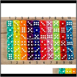Set 10 Colors High Quality 6 Sided Gambing For Board Club Party Family Games Dungeons And Dragon Dice Vrb9N Tzm2X