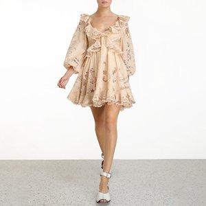 Australian Minority Flounces Backless Holiday Style Short Skirt Sweet Lace Dress Trend