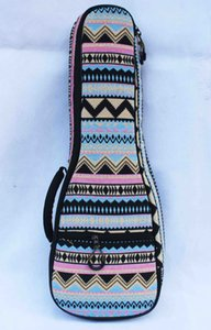 24 inches ukulele used Gig bag concert Uku Bags with Double Shoulder Straps Cotton Ukelele-Bag Chinese Yun Nan Ethnic style cloth guitar-bag