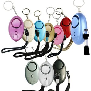 130db Egg Shape Self Defense Alarm Girl Women Security Protect Alert Personal Safety Scream Loud Keychain Alarms DHL