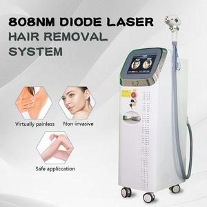 Professionnel 808nm Diode Diode Laser Machine Laser Permanante Désactivant Sécurité Désachante Confortable sur les aisselles Back Mangs Arms Face CE