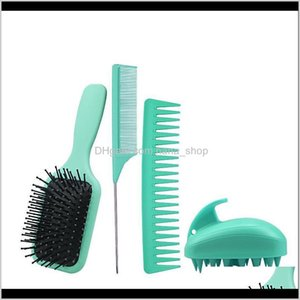 Sets Kits Care & Styling Tools Products Drop Delivery 2021 Hairdressing Set Home Air Cushion Mas Scored Tail Wide Teeth Comb Sile Shampoo Bru