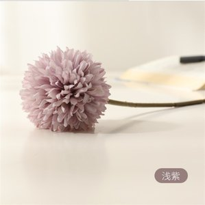 Artificial Chrysanthemum Ball Flowers Bouquet Restaurant Home Office Table Decor Fake Flowers 5 colors Total Length 32cm 558 S2