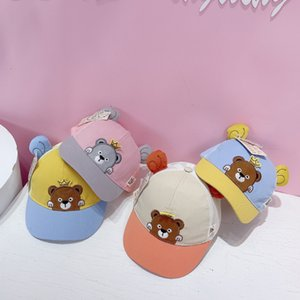 Hats J2062 summer baby duck tongue Korean cartoon cub children's baseball children's net
