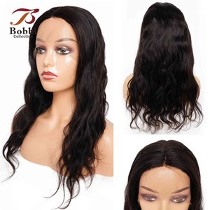 13x4x1 T Lace Front Hu Wig Middle Part Body Wave Remy Hair Wigs Natural Black Color 10-28 inch Bobbi Collection
