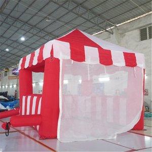 Branco Vermelho Personalizado Portátil Stand Barraca Carnival Cubo Booth Quiosque de Cocesa para Doces Floss Popcorn Fast Food Food Bebida Sorvete