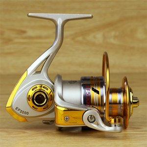 جديد الغزل الصيد بكرة 5.5: 1 الصيد معالجة بيسكا بكرة تغذية الكارب الصيد عجلة EF1000-7000 640 Z2