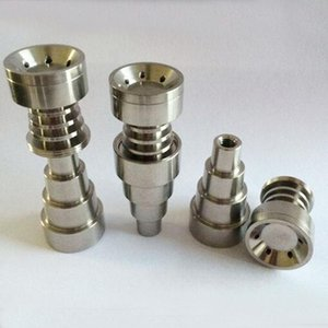 2021 6 IN 1 GR2 Titanium Nails 10mm & 14mm & 19mm Male Female Smoking nail Ti with Carb Cap For glass bong