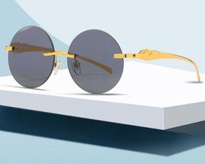 Lunettes de soleil en voiture de mode de la qualité 4Couleurs Titane Alliage cadre Myopia Glasse Vintage Hommes Femmes Femmes Cadres de lunettes de soleil à la plage avec boîte