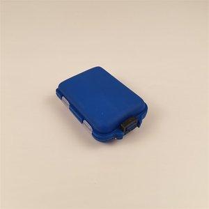 10 compartimentos Caja de aparejos de pesca 2 Capa de pesca de pesca Cait Hooks Caja de almacenamiento de plástico Accesorios de pesca de mar Caja de herramientas 717 Z2