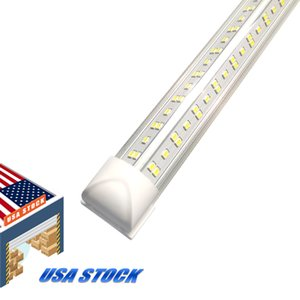 V-şekilli 2ft 3ft 4ft 5ft 6ft 8ft Soğutucu Kapı LED Tüpler T8 Entegre Çift Taraflar Işıklar 85-265V Ampüller ABD'de