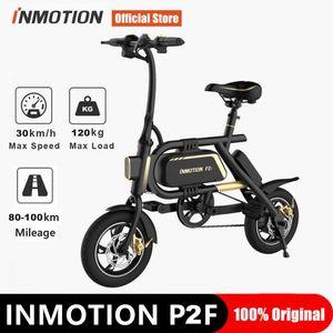 "Original Inmotion P2F   P2 Folding electric Bike 36V 23.2Ah  7.8Ah Battery 350W 30km h 12"" Tire CE FCC Double Disc Brake"