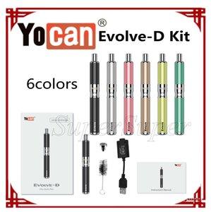100% Original Yocan Evolve Evolve-D Kit Wachs Verdampfer Vape Pen Kits E Zigarette mit Quarz Dual Spule QDC 650MAH DAB