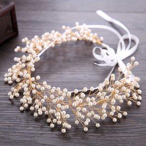 Pearl hairband gold wedding dress accessories bridal headdress hairband Hairband