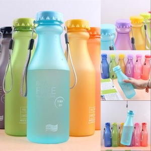 Creative 550ML Frosted Soda Bottle Plastic Portable Drop-proof Water Bottles Fashion Students Sports Water Cups Bottles 1218 V2