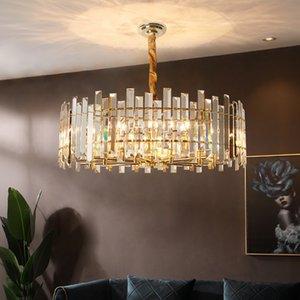 Gold Led Pendant Lamp Crystal Living Indoor Lighting Modern Hanging For Dining room Kitchen Industrial Loft Lights