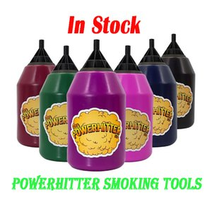 POWERHITTER Vape Bottles Smoking Accessories 180mm Height Bong Pipe Parts Acrylic Push Can Power Hitter Touchless Vapor Device