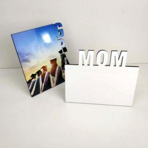 Blank Sublimation Frames Wooden Thermal Transfer Phase Plate MOM Personalized Gift Mothers Day Festival Frame