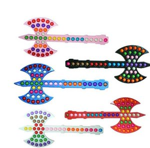 55.5CM Giant Large Push Pops Fidget Toy Poppet Bubble Stress Relief Plastic Prop Axe Kids Family Games Puzzle Toys Finger Game Anti Anxiety Christmas Gift G95J1F1
