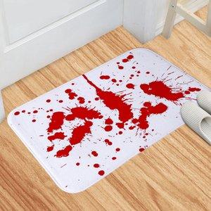 Halloween Blood Footprint Print Mats Kitchen Bedroom Entrance Printing Living Room Floor Mats Non-slip Rug