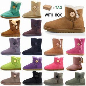 2021 Designer women australia australian boots winter snow furry satin boot ankle booties fur leather outdoors shoes #98 m8lo#