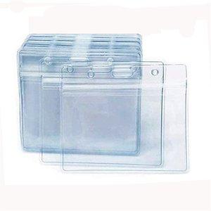 İsim KIMLIK Rozeti Tutucu Aşılama Kart Koruyucu Iş Dosyaları 4x3 Clear Plastik Kol Kapak Su Geçirmez Sıfırlanabilir KDJK2104