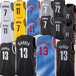Nba BROOKLYN NETS 7 Kevin Durant 11 Kyrie Irving basketball 72 Black Biggie 13 James Harden nba new basketball jerseys high quality