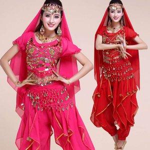 Повседневные платья для обучения живота костюм индийской танцевальной стадии