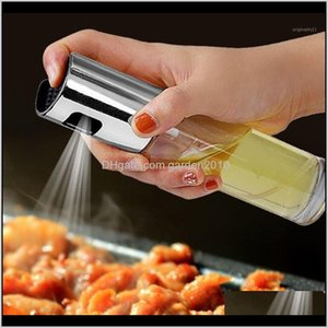 Storage Bottles & Jars Olive Spray Stainless Steel Kitchen Glass Vinegar Oil Sprayer Water Pump Seasoning Bottle Bbq Cooking Tools1 W2 Thj80