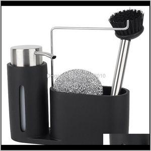 Bathroom Accessories Bath Home & Garden Drop Delivery 2021 Kitchen Sink Countertop Liquid Hand Soap Dispenser Pump Bottle Caddy With Storage