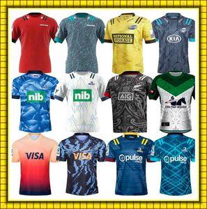 2022 Super 2021 Rugby Il capo Blues Hurricanes Highlanders Jersey Camicie Argentina Jaguaares Uniforme NZL Cronaters Maori Tutte le maglie nere