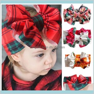 Jewelry Drop Delivery 2021 Ins Large Bowknot Sweet Floral Girls Kids Designer Headbands Baby Girl Head Bands Hair Accessories Psrcw