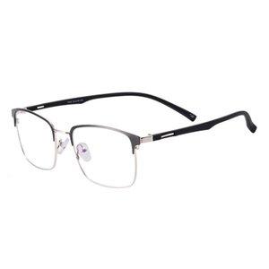 Moda Güneş Gözlüğü Çerçeveleri Erkekler Metal Kare Tam RIM Gözlük Çerçevesi ile TR90 Tapınağı Optik Lensler Için Miyopi Okuma Lens