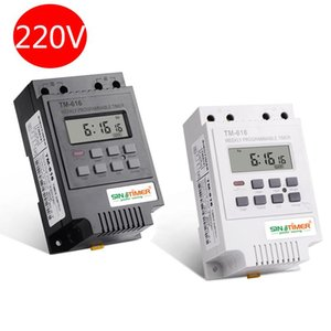 Timers SINOTIMER 30AMP Weekly Programmable Digital TIME SWITCH Relay Control Timer 220V Din Rail Mount,