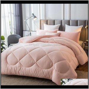 Duvet Cover Set Bedding El Supplies Home & Garden Drop Delivery 2021 1Pc Multicolor Optional Winter Warm Covered 100Percent Plump Fabric Matt