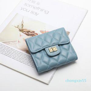 San Maries Womens Wallets Purses Plaid Sheepskin Long short Wallet Hasp Phone Bag Money Luxury Brand Card Holder Female Wallet