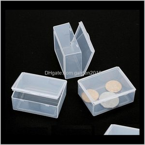 Bins Housekeeping Organization Home Garden Drop Delivery 2021 Plastic Storage Boxes Small Hardware Piece Transparent Collection Case Holder C