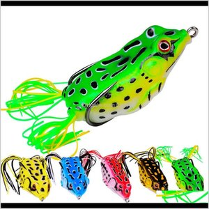 Baits Lures Sports & Outdoors6Dot1Cm 1Pc Classic Fishing Lure Thunder Frog 17Dot5G Black Fish Simulation Fake Soft Bait Drop Delivery 2021 Ua
