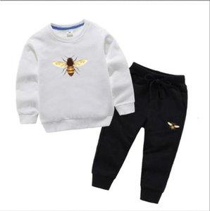 Çocuklar Çocuk Lüks Tasarımcı Moda Kız Giysileri Spor Sonbahar Bebek Hoodies 2 ADET / Setleri Çocuk Kıyafet Yürüyor Pamuk Eşofman