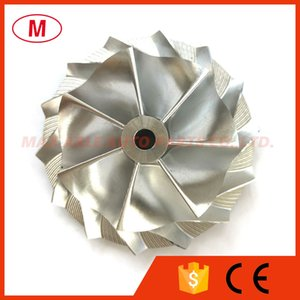 K16 49.09 68.62mm 7+7 blades Performance Turbocharger Turbo Billet compressor wheel Aluminum 2618 Milling wheel for Cartridge CHRA Core