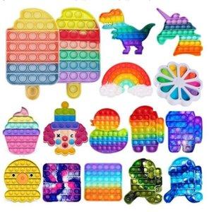 DHL Tiktok Party Party Rainbow POP IT Fidge Toy Sensosory Push Bubble Autism Особые нужды Офисные работники тревоги снижает стресс DHL BA21