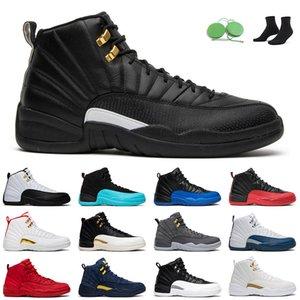 12s The Master men Basketball Shoes jumpman 12 Twist Reverse Flu Game Indigo University Gold Taxi outdoor mens trainer
