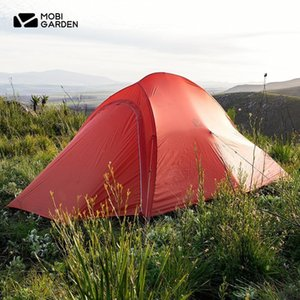 Mobi Garden Ultralight 2 Person Camping Tent Portable Outdoor Hiking 20D Nylon Tent Free Standing same as Cloud Up 2