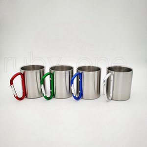 Double Wall Stainless Steel Mountaineering Buckle Mug Beer Drinking Coffee Cups Camping Travel Outdoor Backpacking Hiking SEA WAY RRF9039