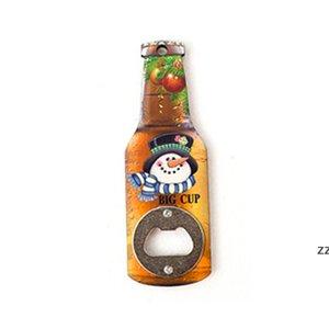 Christmas Gift Cartoon Printing Beer Bottle Opener Creative Refrigerator Magnet Decoration Corkscrew Household Kitchen Tool HWA8890