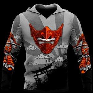 Men's Hoodies & Sweatshirts CLOOCL Japanese Sakura Samurai 3D Graphics Sportswear Casual Pullovers Hip Hop Streetwear Coat Men Clothing