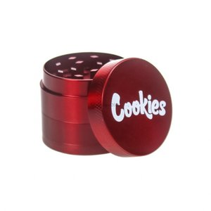 Wholesale 2021 Zinc Alloy Cookies New Herb Grinder Smoke Grinder Tobacco Vape Grinders Smoking Accessories FY2457